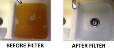 Before and After Well Water Treatment